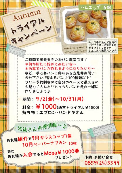 トライアルキャンペーン秋2016
